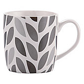Tesco Single Porcelain Leaf Mug, Black