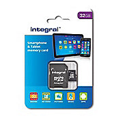 Integral 32GB Smartphone and Tablet micro SDHC/XC UHS-I U1 Card