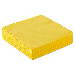 Tesco Napkin - 33Cm, Bright Yellow 50 Pack