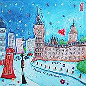 Artistic Britain Big Ben by Susie Grindey Wall Art