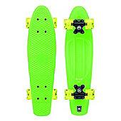 Xootz Kid's Retro Plastic Skateboard with LED Light Up Wheels Green 22-Inch