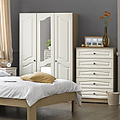 Alto Furniture Visualise Bordeaux 3 Door Robe - White