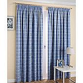Enhanced Living Edinburgh Navy Curtains 168X183cm