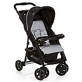 Hauck Shoppercomfort Pushchair, Black & Silver