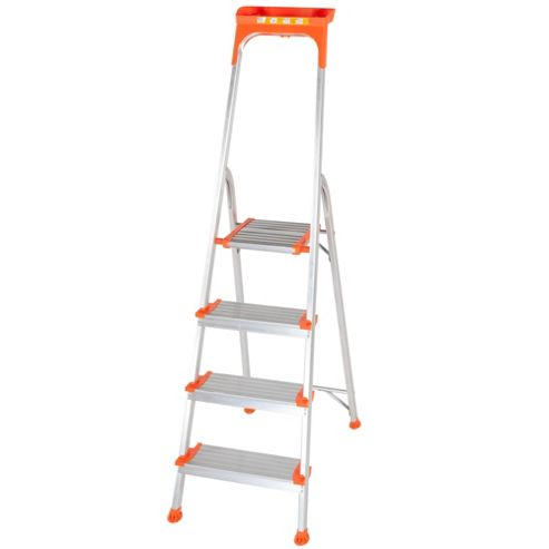 Trade 4 Tread Platform Wide Comfort Step Ladder