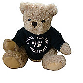 Thank You Bridesmaid Wedding Bear with Black Jumper