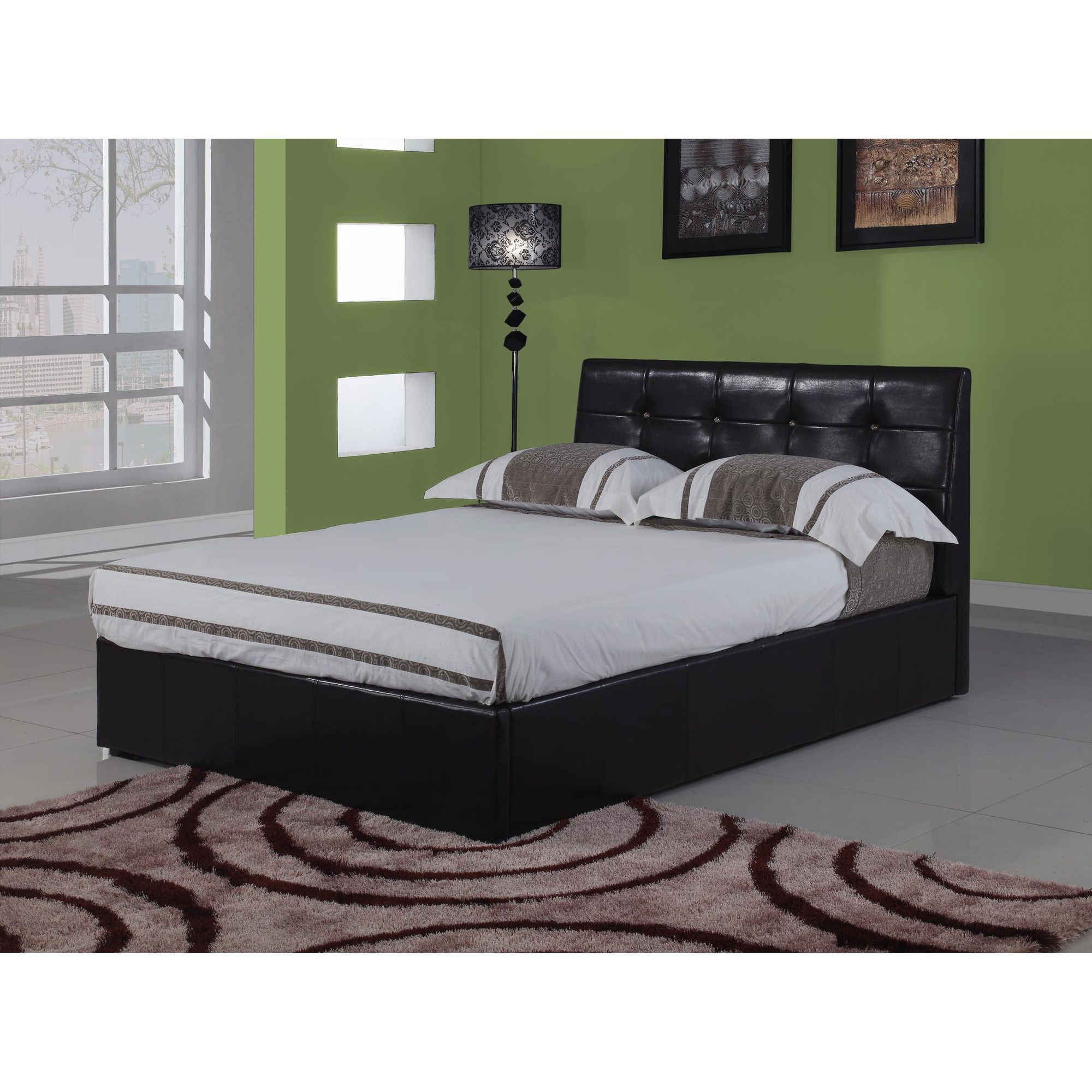 Interiors 2 suit Modena Bedframe - Black - King at Tesco Direct