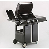 Lifestyle Ebony Deluxe 3 burner Gas Barbeque with Sideburner