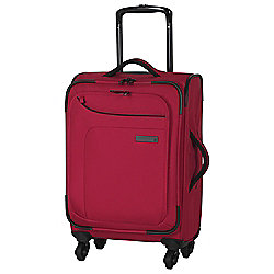 IT Luggage Megalite 4-Wheel Suitcase, Ribbon Red Small