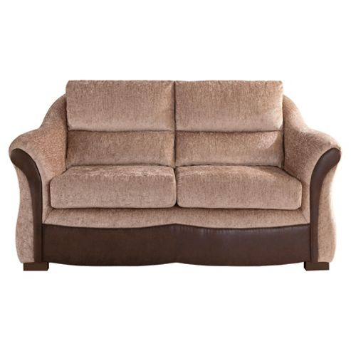 Windsor Fabric Small Sofa Mink & Chocolate