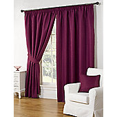 Willow Ready Made Curtains Pair, 90 x 90 Aubergine Colour, Modern Designer Look Pencil pleated curtains