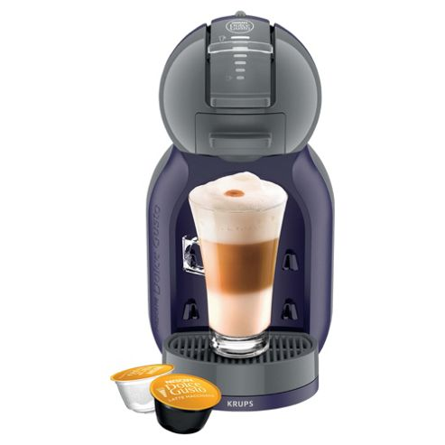 Nescafe Dolce Gusto Mini Me Indigo & Grey Coffee Machine by Krups