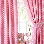 Lilly, Pink Polkadot Pencil Pleat Curtains 72s