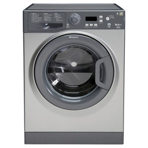 Hotpoint WMYF822G Washing Machine, 8kg Load, 1200 RPM Spin, A++ Energy Rating, Graphite