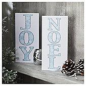 Tesco Joy And Noel Slim Christmas Cards, 10 Pack