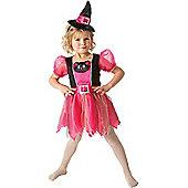 Child Kitty Witch Halloween Costume Medium