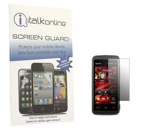 iTALKonline S-Protect LCD Screen Protector and Micro Fibre Cleaning Cloth - For Nokia 5530