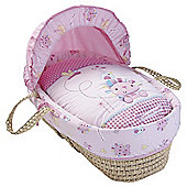 Clair de lune Lottie & Squeak Palm Moses basket, Pink