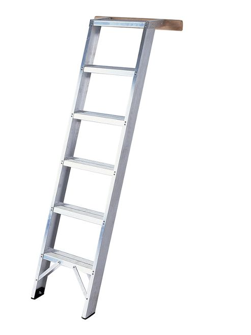Heavy Duty 5 Tread Aluminium Shelf Ladder