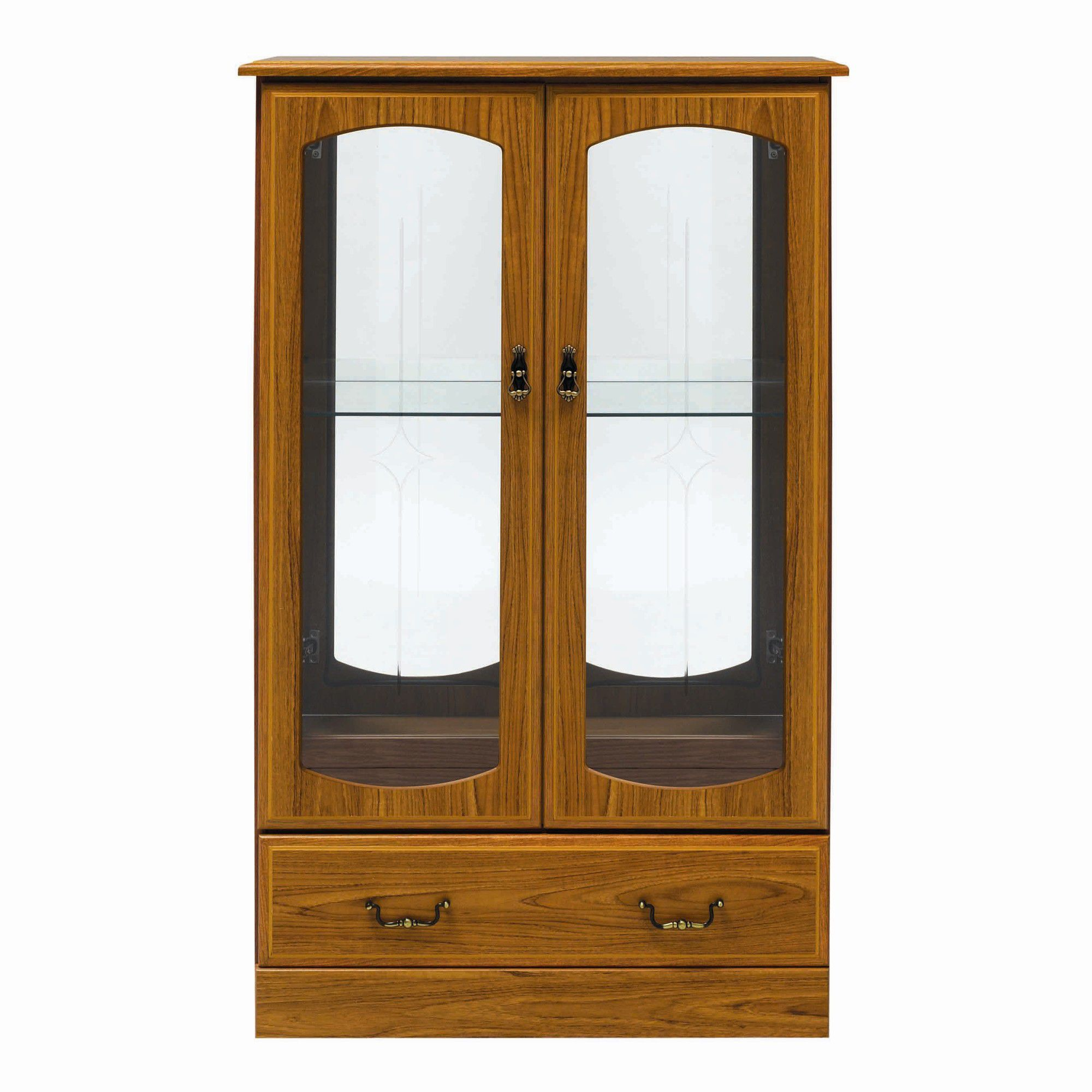 Caxton Tennyson Low Display Cabinet in Teak at Tesco Direct