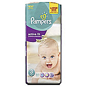 Pampers Active Fit Size 3 Large Pack - 60 nappies