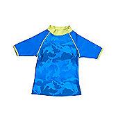 Banz 'Fin Frenzy' Short Sleeved UV Rash Top - Blue - Blue