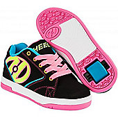 Heelys Propel 2.0 Black/Neon Multi Kids Heely Shoe - Multi