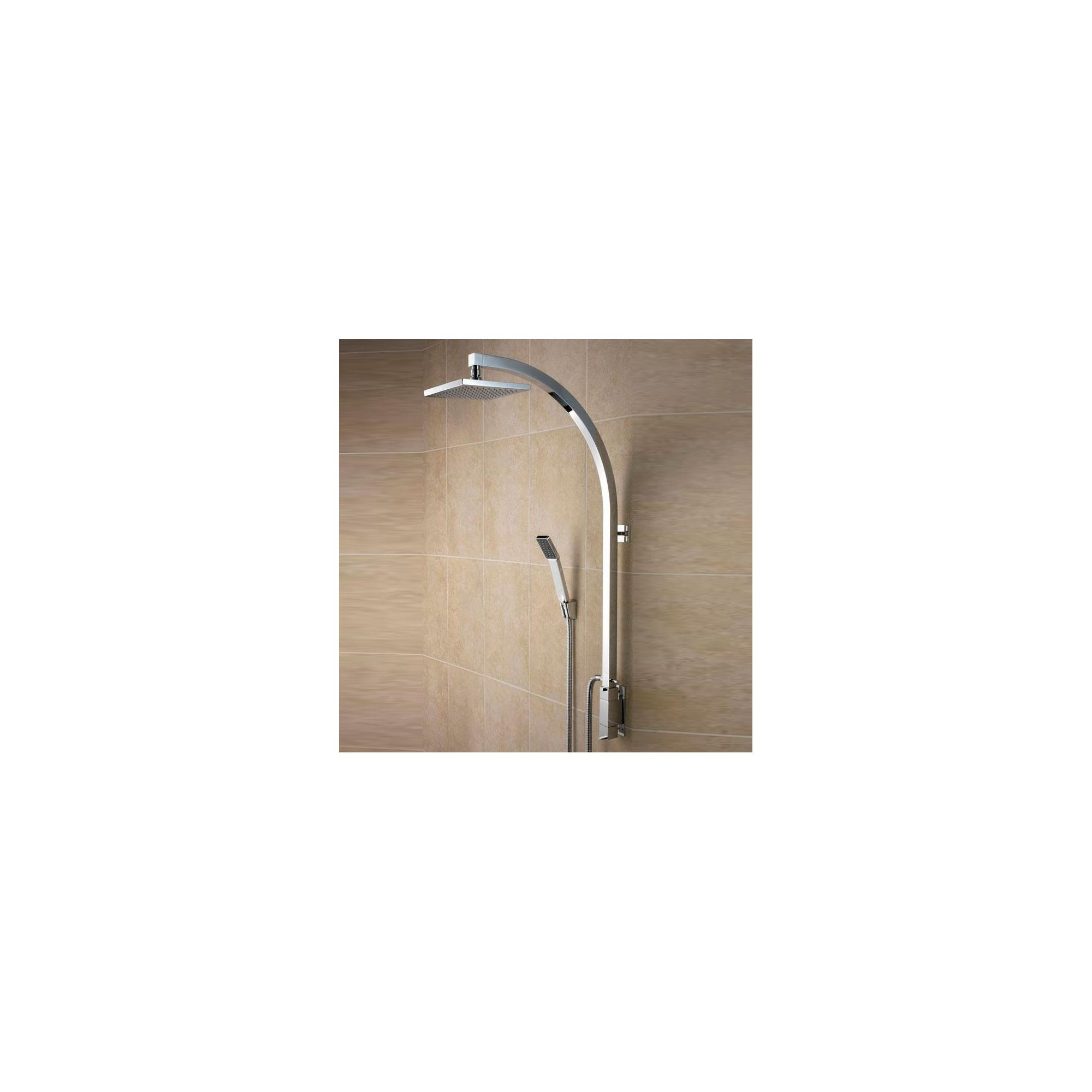 Bristan Qube Inline Vertical Shower Pole with Integral Diverter to Handset Chrome at Tesco Direct