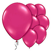 Magenta Balloons - 9' Valved Jewel Latex Balloon (10pk)