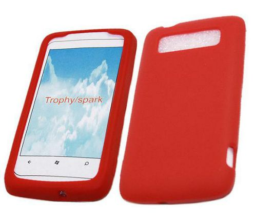 iTALKonline SoftSkin Silicone Case Red - For HTC Trophy 7