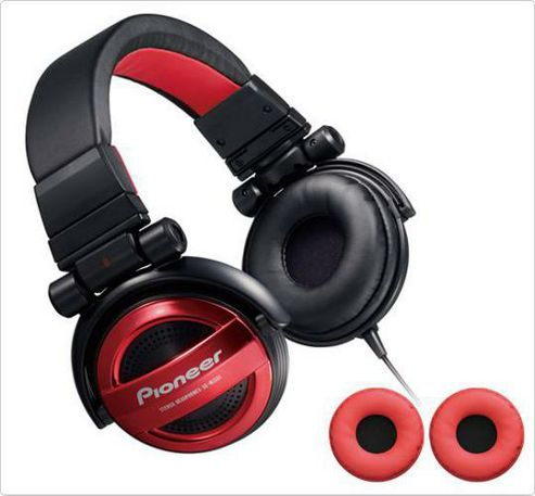 Pioneer SE-MJ551-R Headphone - Black/Red