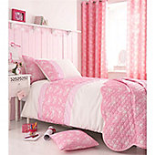 Catherine Lansfield Kids Delicate Butterfly Curtains 66x72 Inches - Pink
