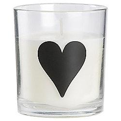SWEET VANILLA ALPHABET CANDLE HEART SYMBOL