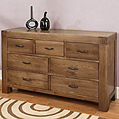 Hawkshead Santana Seven Drawer Chest in Rich Patina