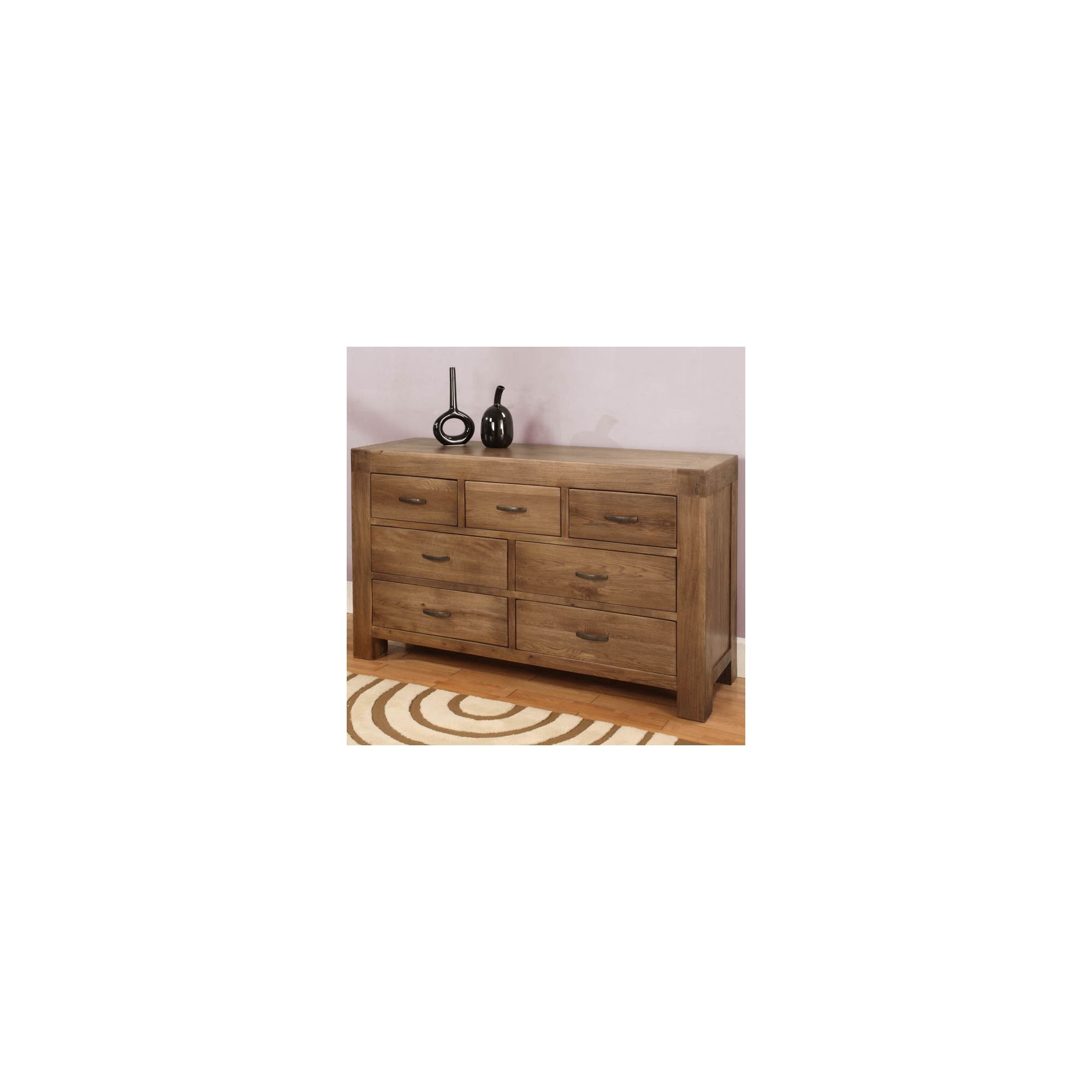Hawkshead Santana Seven Drawer Chest in Rich Patina at Tesco Direct