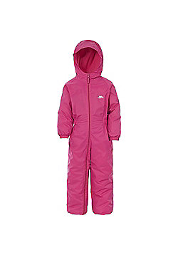 Trespass Kids DripDrop All In One Padded Waterproof Rain Suit - Pink