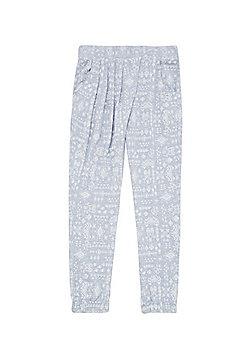 F&F Mixed Print Harem Pants - Blue