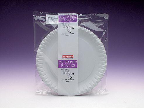 Caroline 1402 Paper Plates White 9in X20
