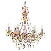 Leitmotiv Marie Therese Pastel Multi-Coloured Chandelier