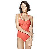 F&F Luxury Cross-Over Bandeau Swimsuit - Orange