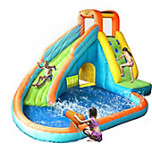 Water Slide With Pool and Cannon Inflatable