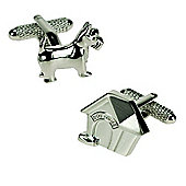 Dog and Kennel Novelty Themed Cufflinks