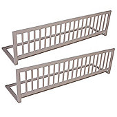 Safetots Extra Wide Double Sided Wooden Bedguard Grey
