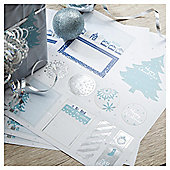 TESCO 3 PAGE STICKER SHEETS SILVER