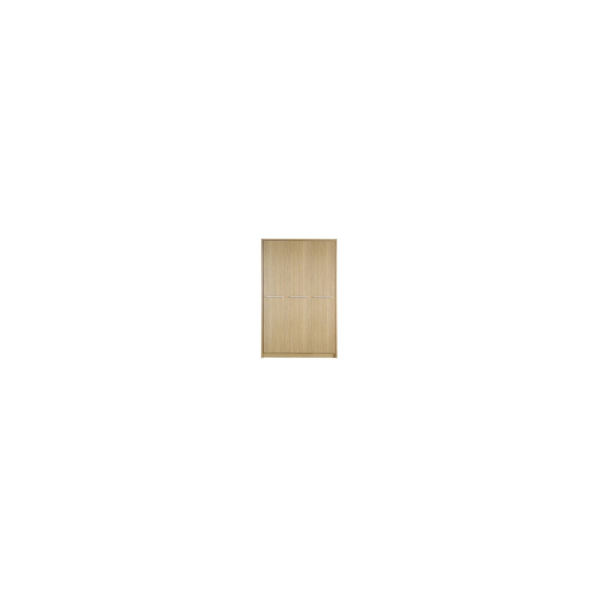 Kit Form Kit-form Delux Three Door Plain Wardrobe in Oak at Tesco Direct