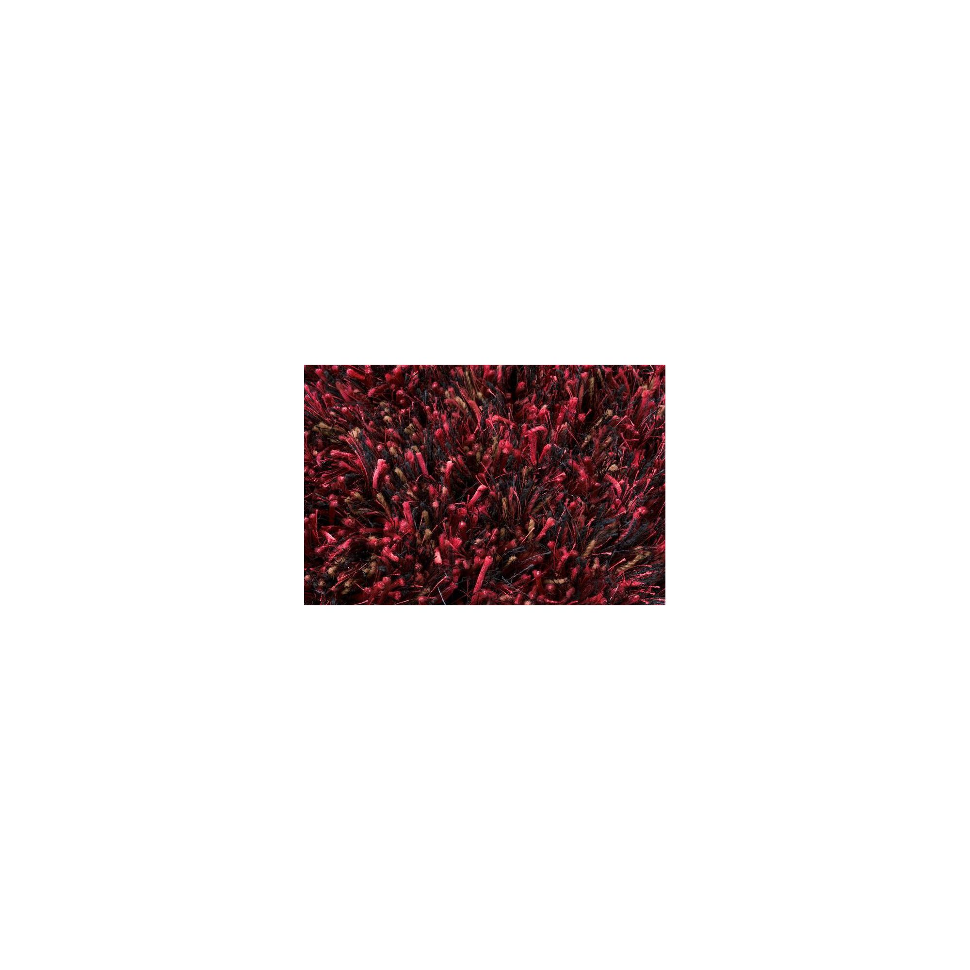 Linie Design Ronaldo Dark Red Shag Rug - 240cm x 170cm at Tesco Direct