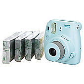 Fujifilm Instax Mini8 Bundle with 4 packs of film (40 shots), Blue