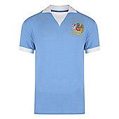 Man City 1976 League Cup Final Shirt - Sky blue