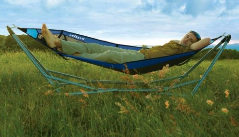 Kelsyus Lay Portable Hammock in Blue Mesh