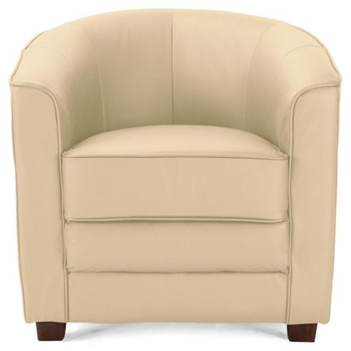 Lana Leather Accent Chair Ivory